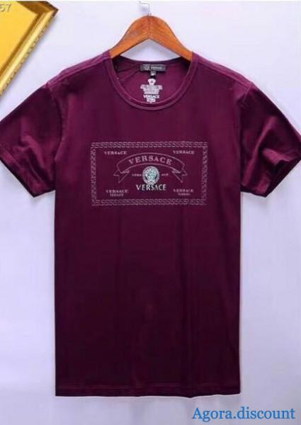Футболка мужская Versace фиолетовая в Нижневартовске d3b968b1833